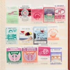 Coleccionismo Billetes de transporte: TRANSPORTE- COLECCIÓN DE 65 BILLETES AUTOBUS DE SANTIAGO DE CHILE. Lote 109899503