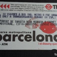 Coleccionismo Billetes de transporte: BILLETE METRO BARCELONA - TARJETA MAGNÉTICA - T4 - DISSENY QUOTIDIÀ CARAMELO - PUB. TMB METRO BLANCO. Lote 109994139
