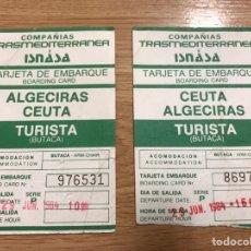 Coleccionismo Billetes de transporte: BILLETES COMPAÑIAS TRANSMEDITERRANEA. Lote 110253723