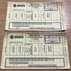 Coleccionismo Billetes de transporte: BILLETES RENFE. Lote 110253812