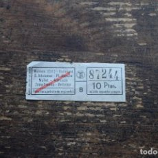 Coleccionismo Billetes de transporte: BILLETE MASNOU-BELLVITGE. Lote 110293175