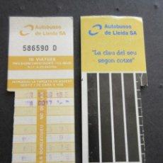 Coleccionismo Billetes de transporte: TARJETA RESISTIVA AUTOBUSES DE LLEIDA S.A.. Lote 110710875