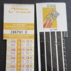 Coleccionismo Billetes de transporte: TARJETA RESISTIVA AUTOBUSES DE LLEIDA S.A.. Lote 110710899