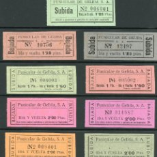Coleccionismo Billetes de transporte: (L258) 9 BILLETES DEL FUNICULAR DE GELIDA S.A. // AÑOS 50 // X30. Lote 142222246