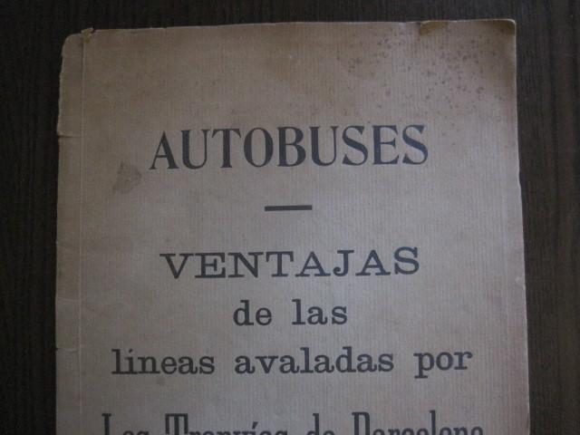 Coleccionismo Billetes de transporte: TRANVIAS DE BARCELONA S.A. - VENTAJAS LINEAS - DOCUMENTO CON PLANO - VER FOTOS - (V-13.312) - Foto 3 - 110899899