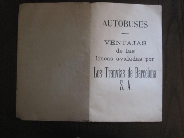 Coleccionismo Billetes de transporte: TRANVIAS DE BARCELONA S.A. - VENTAJAS LINEAS - DOCUMENTO CON PLANO - VER FOTOS - (V-13.312) - Foto 5 - 110899899