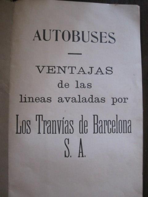 Coleccionismo Billetes de transporte: TRANVIAS DE BARCELONA S.A. - VENTAJAS LINEAS - DOCUMENTO CON PLANO - VER FOTOS - (V-13.312) - Foto 6 - 110899899