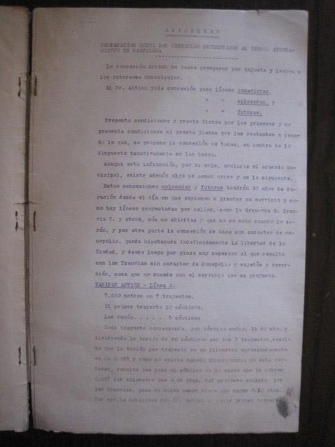 Coleccionismo Billetes de transporte: TRANVIAS DE BARCELONA S.A. - VENTAJAS LINEAS - DOCUMENTO CON PLANO - VER FOTOS - (V-13.312) - Foto 7 - 110899899