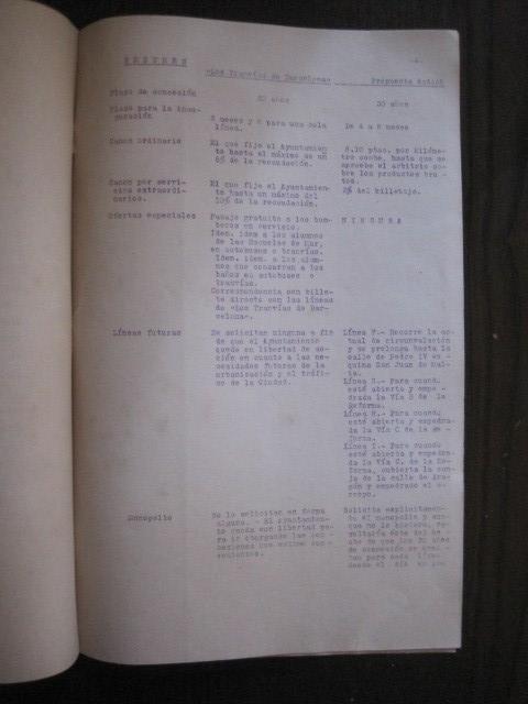 Coleccionismo Billetes de transporte: TRANVIAS DE BARCELONA S.A. - VENTAJAS LINEAS - DOCUMENTO CON PLANO - VER FOTOS - (V-13.312) - Foto 13 - 110899899