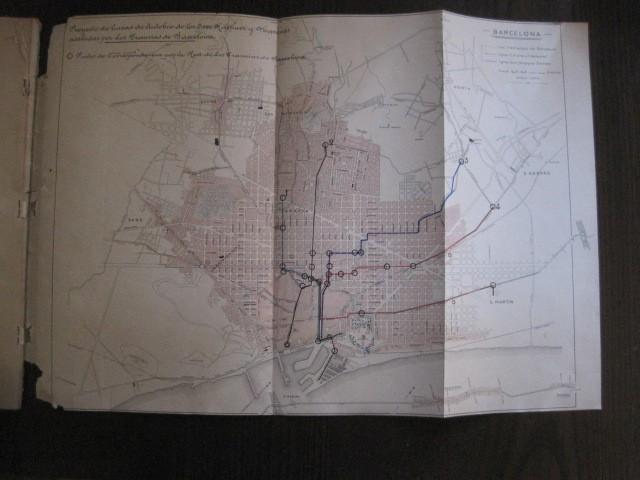 Coleccionismo Billetes de transporte: TRANVIAS DE BARCELONA S.A. - VENTAJAS LINEAS - DOCUMENTO CON PLANO - VER FOTOS - (V-13.312) - Foto 20 - 110899899