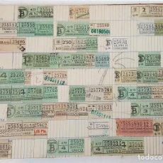 Coleccionismo Billetes de transporte: COLECCIÓN DE TÍTULOS DE TRANSPORTE. TRANVÍA Y AUTOBÚS. BARCELONA. SIGLO XX. . Lote 111219755