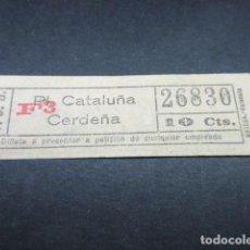 Coleccionismo Billetes de transporte: BILLETE TRANVAS DE BARCELONA - VER TRAYECTOS DIFERENTES - LEER INTERIOR REF: ARD-004. Lote 111480519