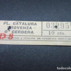 Coleccionismo Billetes de transporte: BILLETE TRANVAS DE BARCELONA - VER TRAYECTOS DIFERENTES - LEER INTERIOR REF: ARD-004. Lote 111480583