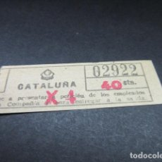 Coleccionismo Billetes de transporte: BILLETE GRAN METROPOLITANO BARCELONA METRO - CATALUÑA - LEER INTERIOR REF: ARD-004. Lote 111486011
