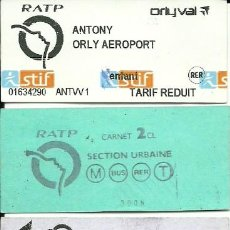 Coleccionismo Billetes de transporte: BILLETES DEL METRO EXTRANJEROS - 6 DIFERENTES. Lote 112095591