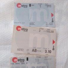Coleccionismo Billetes de transporte: LOTE DE BILLETES DE METRO DE VALENCIA. Lote 112313247