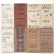 Coleccionismo Billetes de transporte: 8 BILLETES EDMONSON . Lote 113053975