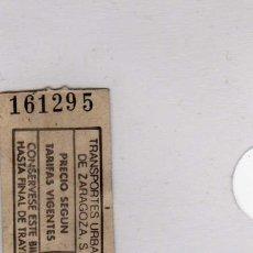 Coleccionismo Billetes de transporte: TRASPORTES URBANOS DE ZARAGOZA. Lote 113708643