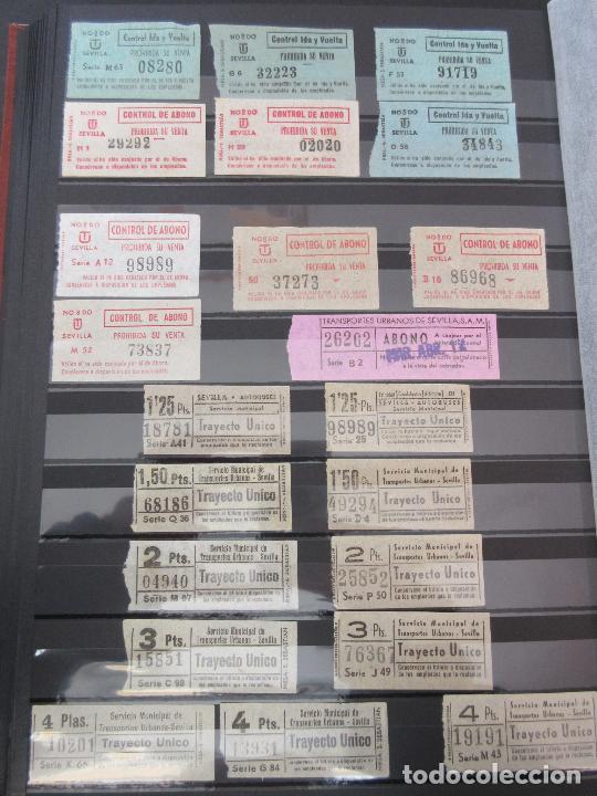 LOTE 35 BILLETES CAPICUA CAPICUAS DIFERENTE EN NUMERO Y TIPO LEER INTERIOR SEVILLA URBANOS (Coleccionismo - Billetes de Transporte)