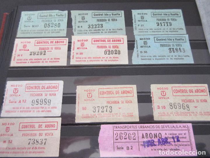 Coleccionismo Billetes de transporte: LOTE 35 BILLETES CAPICUA CAPICUAS DIFERENTE EN NUMERO Y TIPO LEER INTERIOR SEVILLA URBANOS - Foto 2 - 114077039
