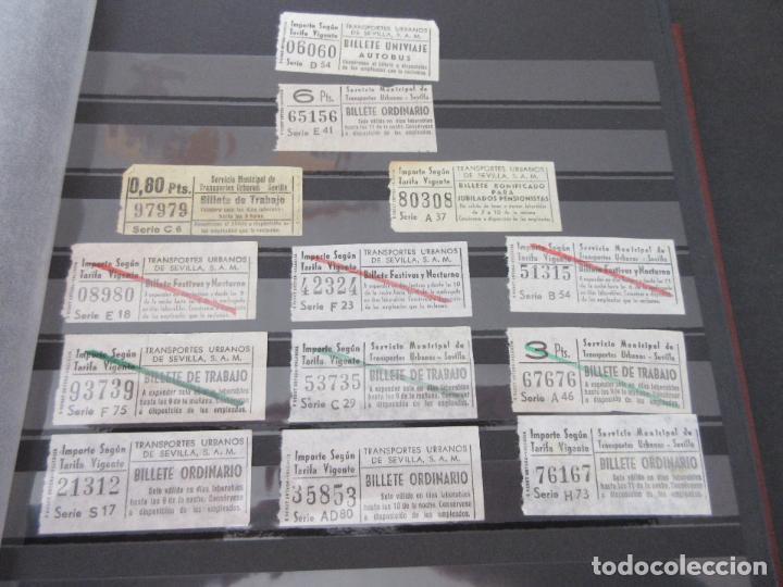 Coleccionismo Billetes de transporte: LOTE 35 BILLETES CAPICUA CAPICUAS DIFERENTE EN NUMERO Y TIPO LEER INTERIOR SEVILLA URBANOS - Foto 4 - 114077039