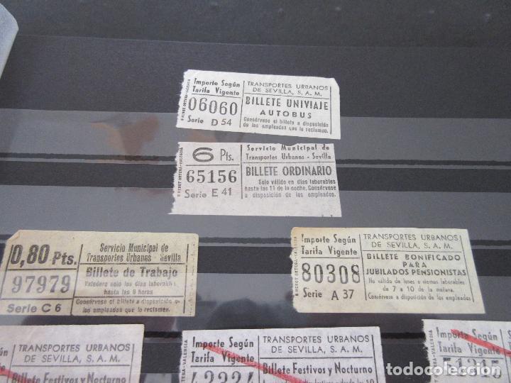 Coleccionismo Billetes de transporte: LOTE 35 BILLETES CAPICUA CAPICUAS DIFERENTE EN NUMERO Y TIPO LEER INTERIOR SEVILLA URBANOS - Foto 5 - 114077039