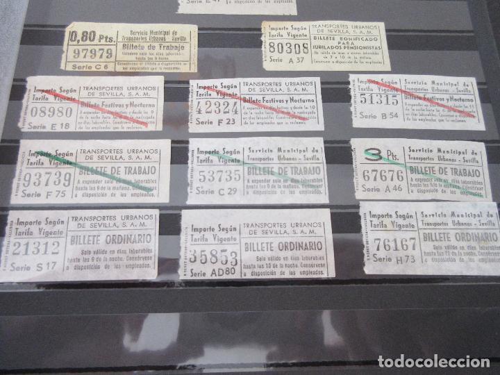 Coleccionismo Billetes de transporte: LOTE 35 BILLETES CAPICUA CAPICUAS DIFERENTE EN NUMERO Y TIPO LEER INTERIOR SEVILLA URBANOS - Foto 6 - 114077039