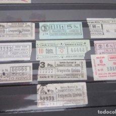 Coleccionismo Billetes de transporte: COLECCION COMPLEA 10 CAPICUA CAPICUAS REALES EMPRESAS NACIONALES. Lote 114077119