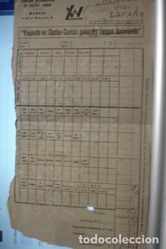 COMPAÑIA INTERNACIONAL DE COCHES CAMAS - PORTAL DEL COL·LECCIONISTA ****** (Coleccionismo - Billetes de Transporte)