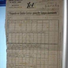 Coleccionismo Billetes de transporte: COMPAÑIA INTERNACIONAL DE COCHES CAMAS - PORTAL DEL COL·LECCIONISTA ******. Lote 114246519