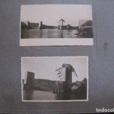 Coleccionismo Billetes de transporte: ALBUM RECONSTRUCCION PUENTE FERROCARRIL SOBRE RIO AGUEDA -ALBUM 64 FOTOGRAFIAS-VER FOTOS-(V-13.764). Lote 114821203