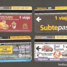 Coleccionismo Billetes de transporte: 4 BILLETES DE METRO ARGENTINA BUENOS AIRES 000. Lote 115925247
