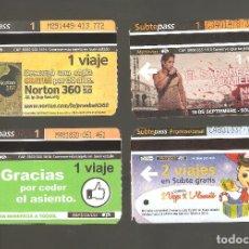 Coleccionismo Billetes de transporte: 4 BILLETES DE METRO ARGENTINA BUENOS AIRES 003. Lote 115925995