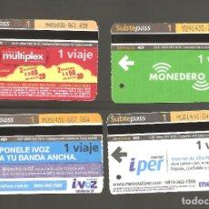 Coleccionismo Billetes de transporte: 4 BILLETES DE METRO ARGENTINA BUENOS AIRES 004. Lote 115926211