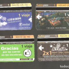 Coleccionismo Billetes de transporte: 4 BILLETES DE METRO ARGENTINA BUENOS AIRES 006. Lote 115926559