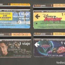 Coleccionismo Billetes de transporte: 4 BILLETES DE METRO ARGENTINA BUENOS AIRES 007. Lote 115926751