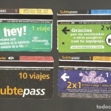 Coleccionismo Billetes de transporte: 4 BILLETES DE METRO ARGENTINA BUENOS AIRES 009. Lote 115927247
