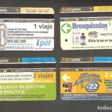 Coleccionismo Billetes de transporte: 4 BILLETES DE METRO ARGENTINA BUENOS AIRES 012. Lote 115927983