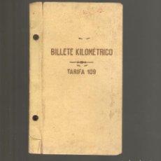 Coleccionismo Billetes de transporte: BILLETE KILOMETRICO TARIFA 109 AÑO 1946 079. Lote 116082503