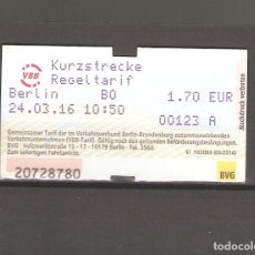 Coleccionismo Billetes de transporte: 1 BILLETE DE TRANPORTE BERLIN ALEMANIA 088. Lote 116084759
