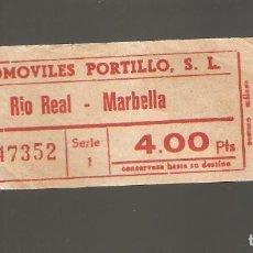 Coleccionismo Billetes de transporte: 1 BILLETE DE TRANSPORTE MARBELLA 100. Lote 116087127