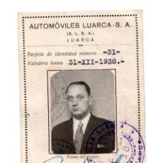 Coleccionismo Billetes de transporte: TARJETA DE TRANSPORTE LIBRE CIRCULACIÓN. LUARCA (ASTURIAS) 1938 AUTOMÓVILES LUARCA.. Lote 116136447