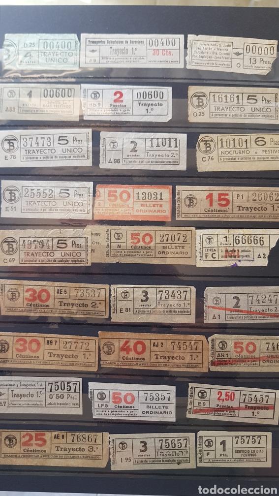 55 ANTIGUOS BILLETES DE TRANVÍA CAPICÚA BARCELONA (Coleccionismo - Billetes de Transporte)