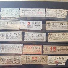 Coleccionismo Billetes de transporte: 55 ANTIGUOS BILLETES DE TRANVÍA CAPICÚA BARCELONA. Lote 116691242