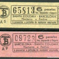 Coleccionismo Billetes de transporte: (F24//5) BILLETE/S DE TRANVIAS DE BARCELONA / AÑOS 60 - 70 / TIPO 25 / A17. Lote 221608637