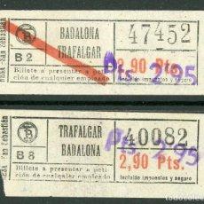 Coleccionismo Billetes de transporte: (F24//7) BILLETE/S DE TRANVIAS DE BARCELONA / AÑOS 40 - 50 / TIPO 33 / A18. Lote 221607546