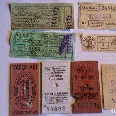 Coleccionismo Billetes de transporte: LOTE DE 8 BILLETES DE TRANSPORTE ANTIGUOS. Lote 117183835