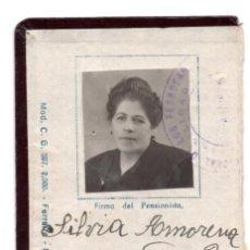 Coleccionismo Billetes de transporte: CARNET RED NACIONAL DE FERROCARRILES ESPAÑOLES CONTABILIDAD GENERAL. INCOMPLETO. Lote 117582867