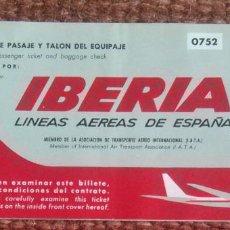 Coleccionismo Billetes de transporte: IBERIA CON PUBLICIDAD COCA COLA - 1969. Lote 117805123