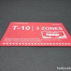 Coleccionismo Billetes de transporte: TARJETA T-10 3 ZONAS. Lote 118057343